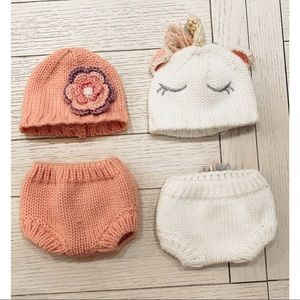 Cute Knitted Hat & Pants 🦄